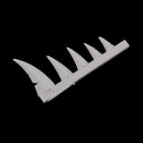"alt=""Scenic resin spikes close up of set of 5 spikes that are repeated throughout the set"""