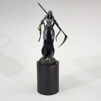"alt=""painted star reaper miniature shown on a fifty millimetre round black plinth for reference"""