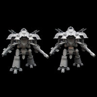 "alt=""imperial knight waist extension joint shown mount of a dominus knight height comparison next to a standard dominus knight"""