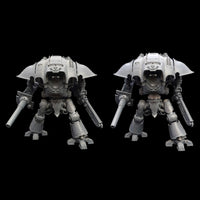 "alt=""imperial knight waist extension joint shown on a questoris knight height comparison next to a standard knight"""