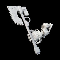 "alt=""imperial knight combat weapon handle and chain axe being held in an imperial knight melee gauntlet hand"""