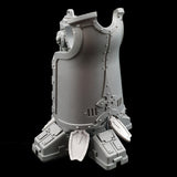 "alt=""imperial knight dominus toe shields shown on foot with lower half of a leg"""