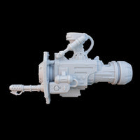 "alt=""imperial knight gun arm assembled with side flamer option"""