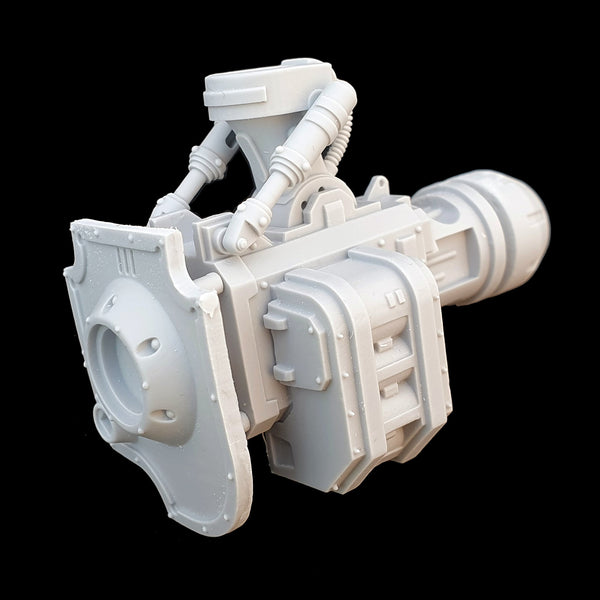 "alt=""imperial knight gun arm left hand side with shell magazine"""