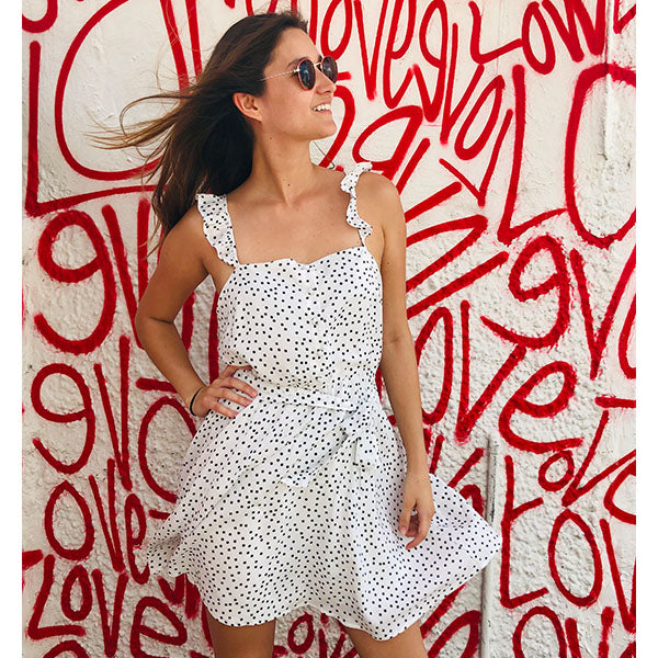 White Dot Dress