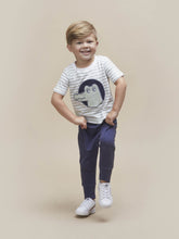 Load image into Gallery viewer, NAVY DROP CROTCH PANT KID