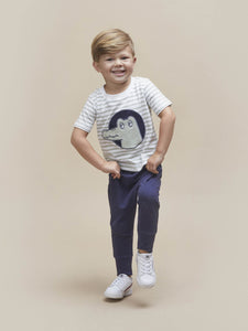 NAVY DROP CROTCH PANT KID