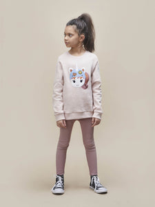 ORCHID RIB LEGGINGS KID
