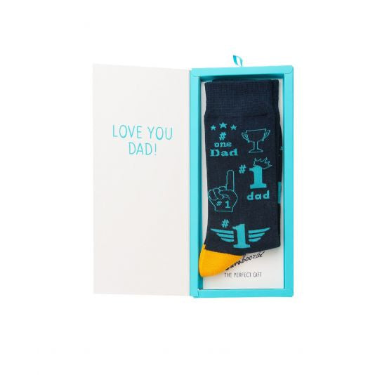 BAMBOOZLD SOCK CARD - NO1 DAD