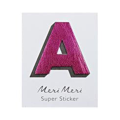 LEATHERETTE ALPHABET STICKERS