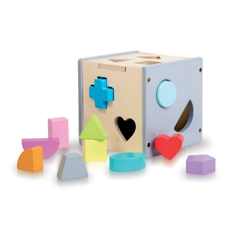 WOODEN SORTING BOX - SHAPES