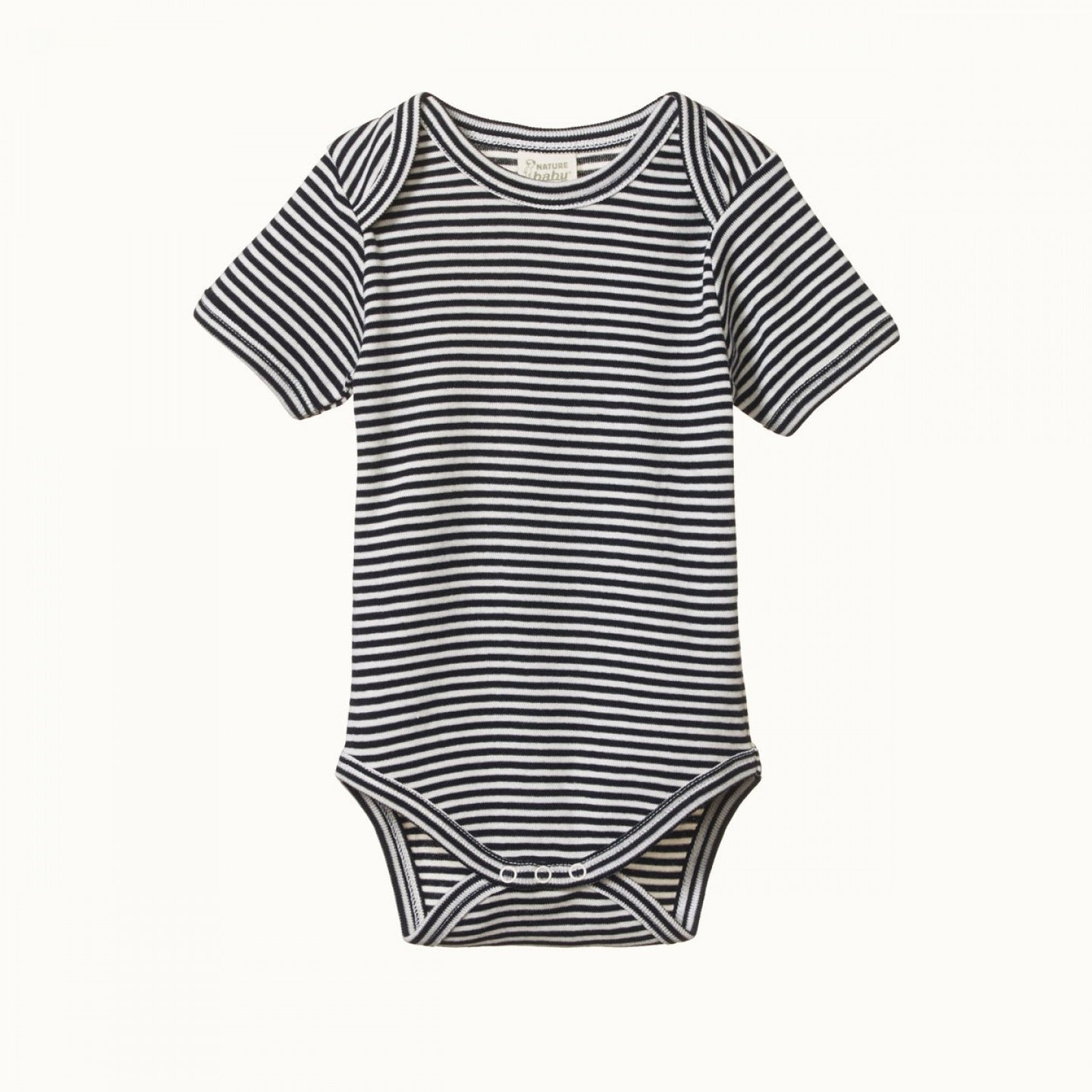 SHORT SLEEVE BODYSUIT- NAVY STRIPE