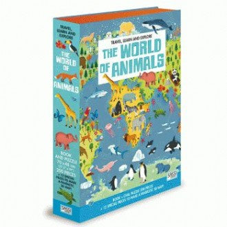 The World Animals Book and 3D Puzzle