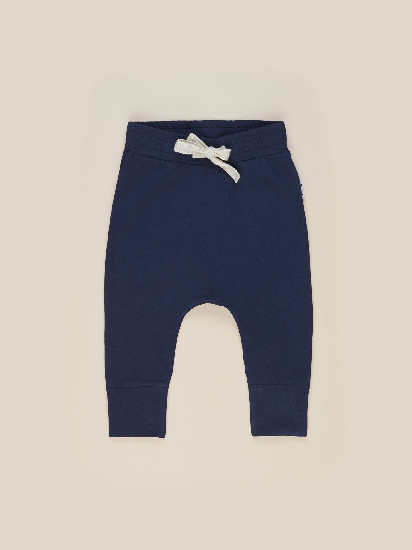 NAVY DROP CROTCH PANT