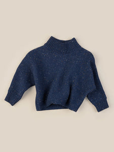 SPRINKLES KNIT JUMPER KID - DARK BLUE