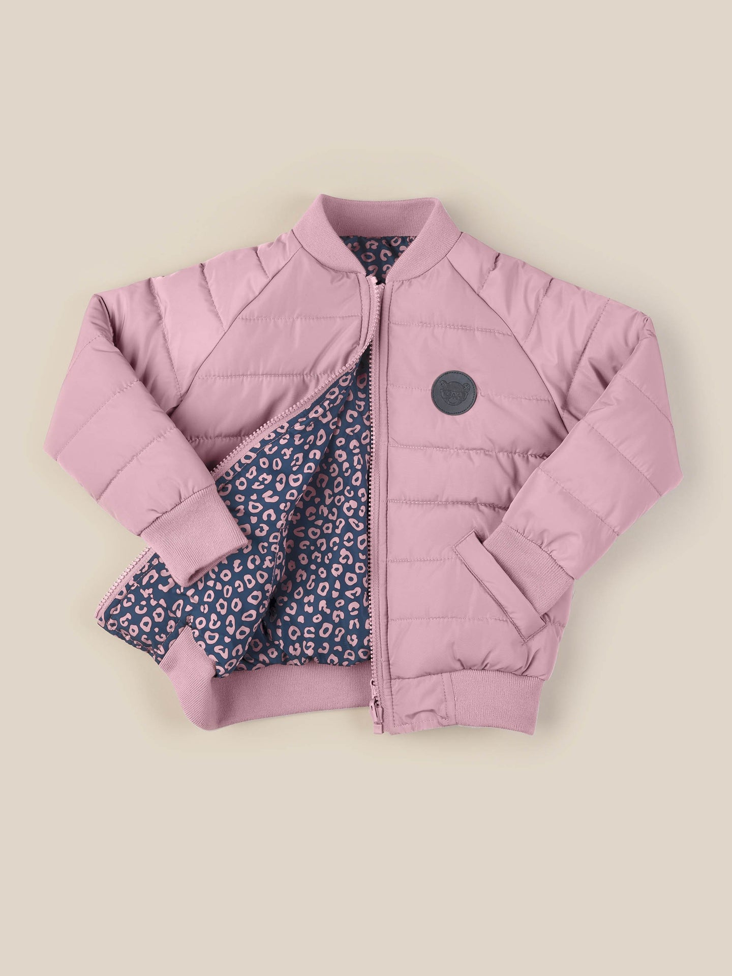 DITZY ANIMAL REVERSIBLE BOMBER - WILD ROSE