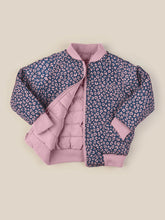 Load image into Gallery viewer, DITZY ANIMAL REVERSIBLE BOMBER - WILD ROSE