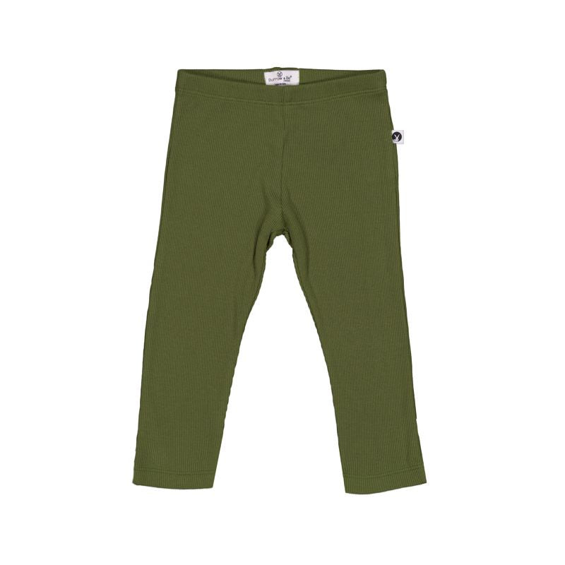 Rib Leggings - Olive