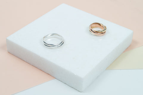 contemporary and classic rings