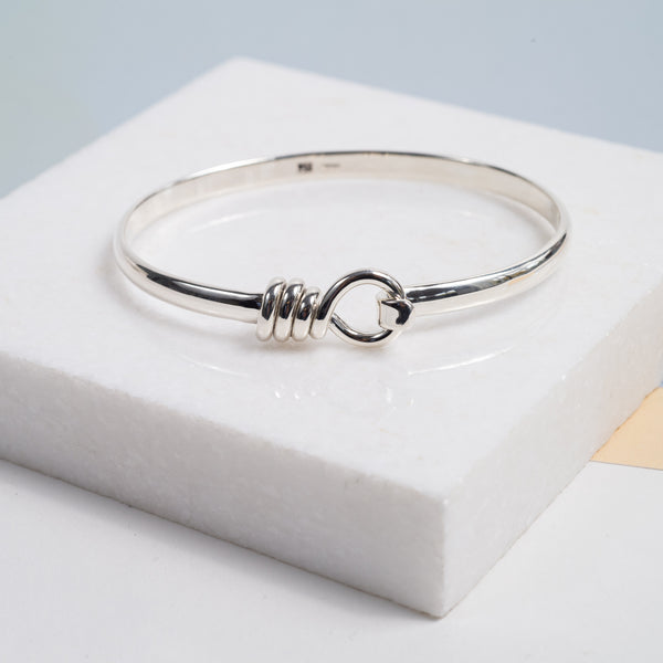 BAYSWATER SOLID STERLING SILVER ROPE BANGLE