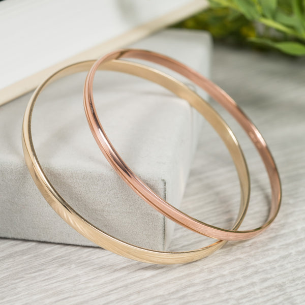 The Brompton 9ct Solid Gold Bangles