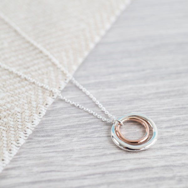 Ifield Silver Rose Gold Necklace