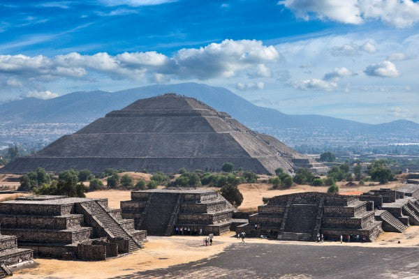 Pyramid of the Sun. Teotihuacan. Mexico. View from the Pyramid o