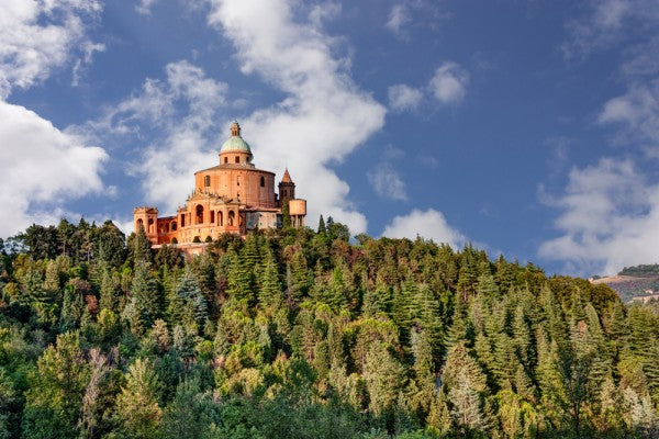 sanctuary of the Madonna di San Luca, antique church on the hill of Bologna, Italy_shutterstock_159162773