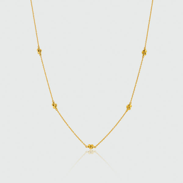 Courtfield Freshwater Pearl & Yellow Gold Vermeil Necklace - aureejewellery