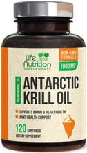 Load image into Gallery viewer, Antarctic Krill Oil Supplement 1000mg Highest Potency Krill w/Omega 3, EPA, DHA & Astaxanthin - Made in USA - Heart & Joint Support, Non-GMO, No Fishy Aftertaste for Men Women - 120 Softgels