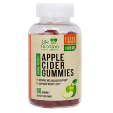 Load image into Gallery viewer, 100% Natural Apple Cider Vinegar Gummies for Weight Loss 1400mg - Highest Potency ACV Gummy Vitamin - Fast Fat Burning, Detox Cleanse & Appetite Suppressant for Men & Women - 60 Gummies
