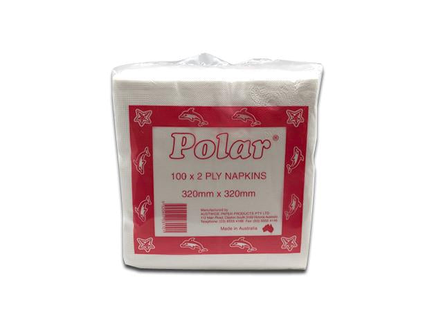 Polar Lunch Napkin, 320x320mm, 2 Ply, 100shts x 20pks/ctn (0/1)