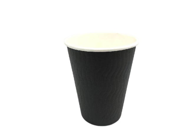 Coffee Cup, 12oz, Double Wall, Black, 500pc (0/1)