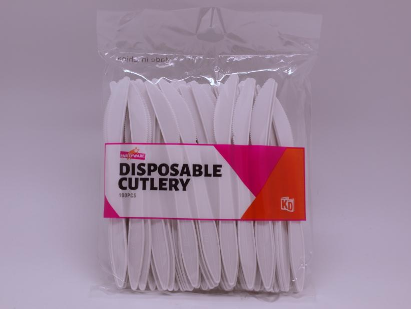 Disposable Knife, 165mm, White, 1000pc/inner (1/2)