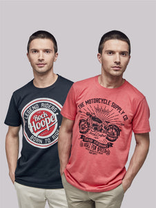 Rock Hooper - Men's Regular Fit Half Sleeve Printed Cotton T-shirt (Combo Pack)