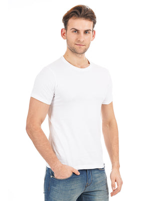 Rock Hooper Men's Half Sleeve Cotton White/Black/Grey Round Neck Combo Pack of 3 T-Shirts