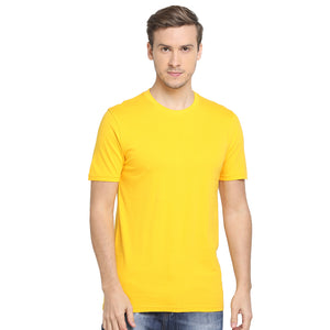Rock Hooper Men's Half Sleeve Cotton White/Black/Grey/Mustrad Yellow/Aqua Blue/Maroon/Navy Blue/Chilly Red/ Round Neck T-Shirt