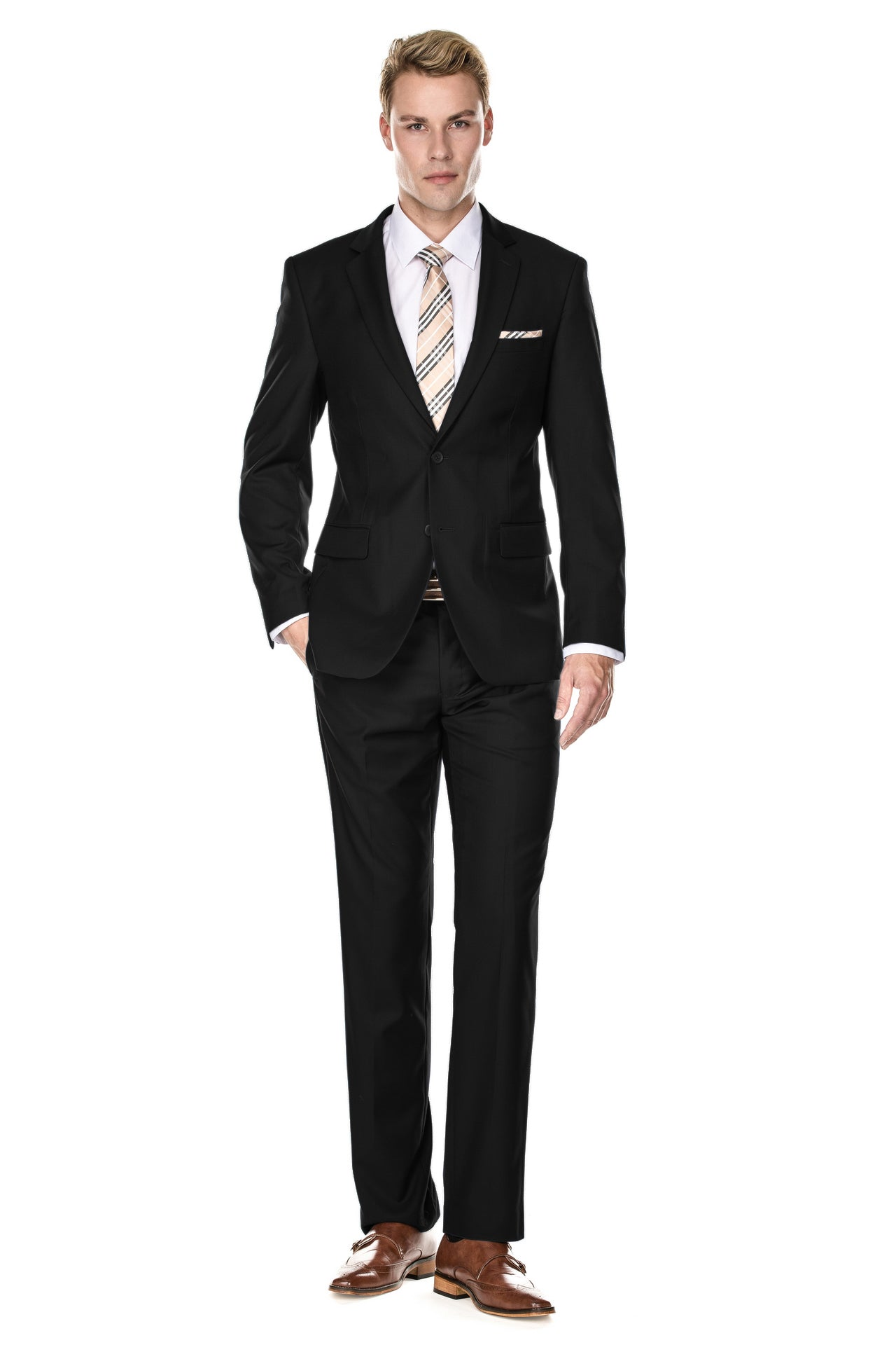 Braveman Men's Classic Fit 2PC Suits - DAILYHAUTE