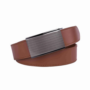Men's Genuine Leather Sliding Dress Belt - DAILYHAUTE