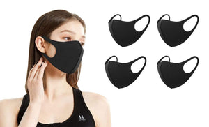 DAILYHAUTE FACE MASK BLACK / 5 5 or 10-Pack Unisex Non-Medical Reusable Face Masks