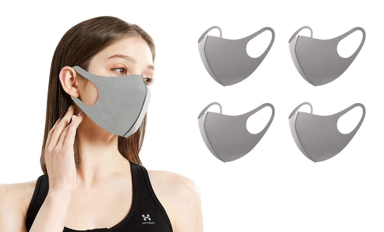 DAILYHAUTE FACE MASK GREY / 5 5 or 10-Pack Unisex Non-Medical Reusable Face Masks