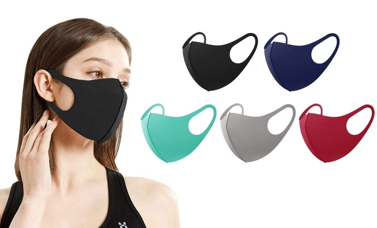 DAILYHAUTE FACE MASK MULTI-1 / 5 5 or 10-Pack Unisex Non-Medical Reusable Face Masks