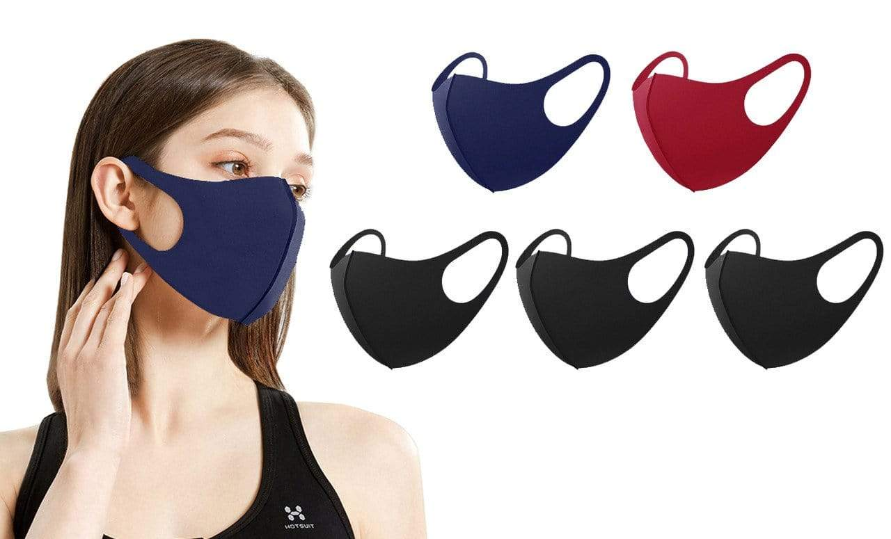 DAILYHAUTE FACE MASK MULTI-10 / 5 5 or 10-Pack Unisex Non-Medical Reusable Face Masks