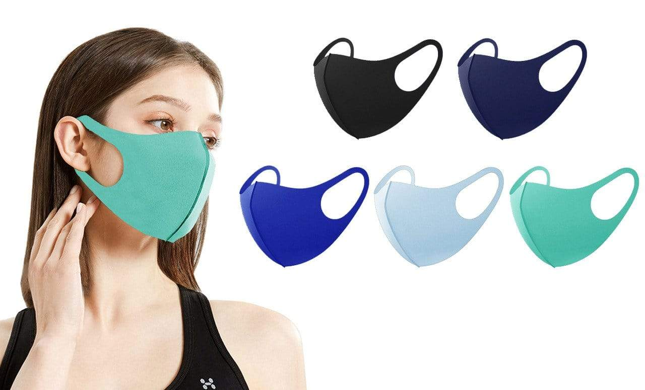 DAILYHAUTE FACE MASK MULTI-5 / 5 5 or 10-Pack Unisex Non-Medical Reusable Face Masks