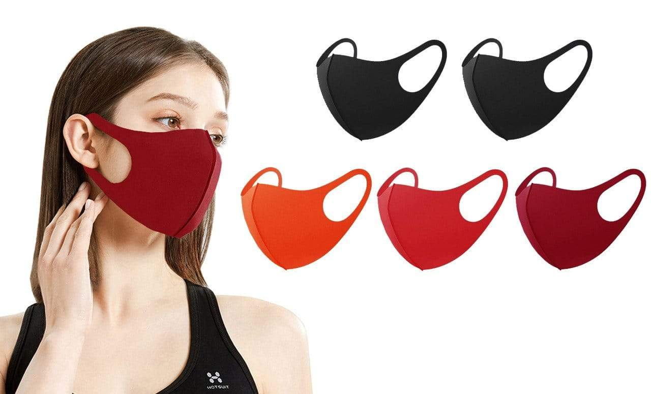 DAILYHAUTE FACE MASK MULTI-6 / 5 5 or 10-Pack Unisex Non-Medical Reusable Face Masks