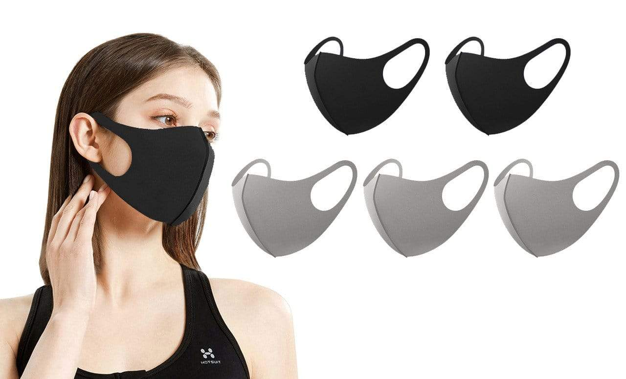 DAILYHAUTE FACE MASK MULTI-9 / 5 5 or 10-Pack Unisex Non-Medical Reusable Face Masks