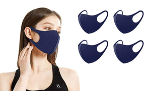 DAILYHAUTE FACE MASK NAVY / 5 5 or 10-Pack Unisex Non-Medical Reusable Face Masks