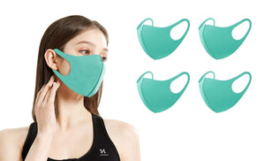 DAILYHAUTE FACE MASK TEAL / 5 5 or 10-Pack Unisex Non-Medical Reusable Face Masks