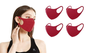 DAILYHAUTE FACE MASK WINE / 5 5 or 10-Pack Unisex Non-Medical Reusable Face Masks