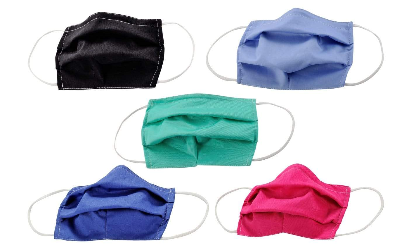 DAILYHAUTE FACE MASK MASK-PACK23 / One size / 5 PK 5-Pack Pleated Reusable Cotton Non-Medical Masks with Adjustable Nose Bridge